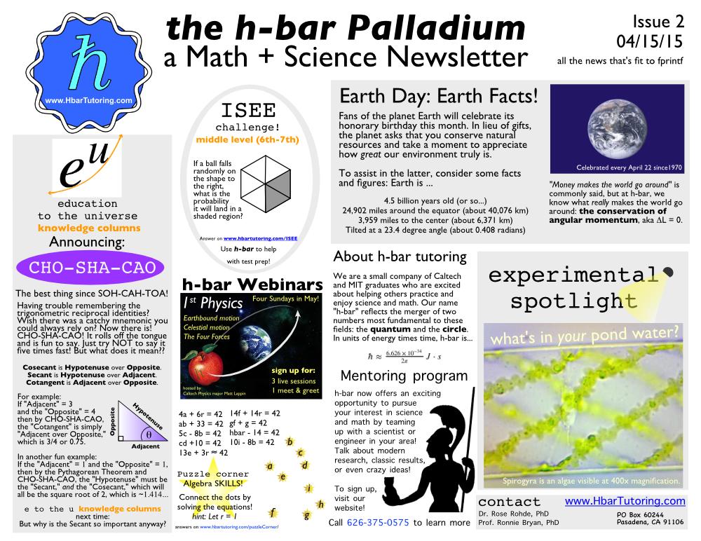 Hbar Newsletter April 2015