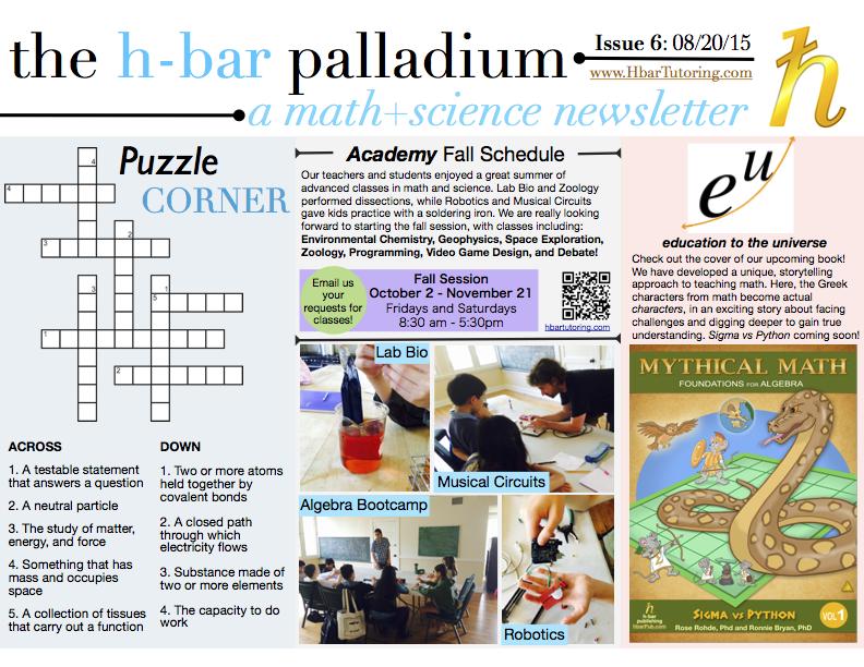 Hbar Newsletter August 2015